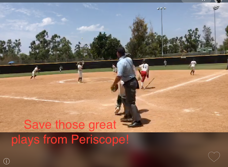 How to Download Softball Highlights fromPeriscope